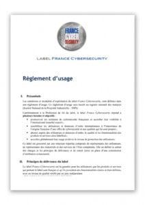 Règlement du Label France Cybersecurity